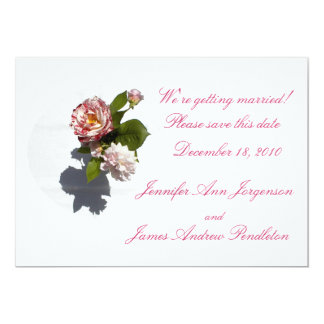 Rose Arrangement: Save the Date! 13 Cm X 18 Cm Invitation Card