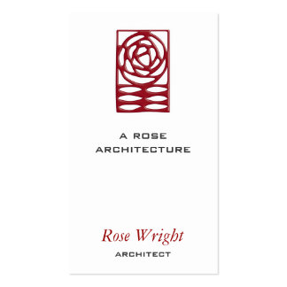 Rose Arts Crafts Ornament Business Card Templates