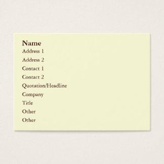 Rose Avunclover Nostalgic Pattern Business Card