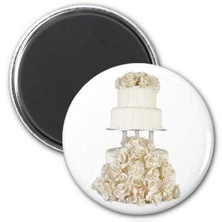 Rose Base Wedding Cake Magnet