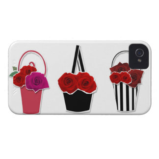 Rose Baskets iPhone 4 Cases