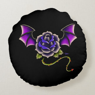Rose Bat Round Cushion