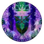 Rose Birds – Violet & Pink Cycle Clocks