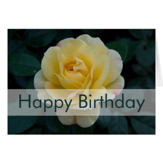Rose Birthday Card Geburtstagskarte Rose