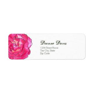 Rose Bloom Address Label