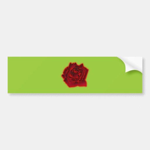 Rose bloom blossom bumper stickers