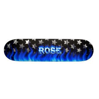 Rose blue fire Skatersollie skateboard.