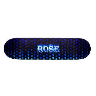Rose blue fire Skatersollie skateboard
