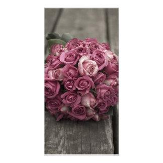 Rose Bouquet Custom Photo Card