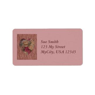 Rose Bouquet Heart Address Label