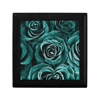 Rose Bouquet in Turquoise Gift Box