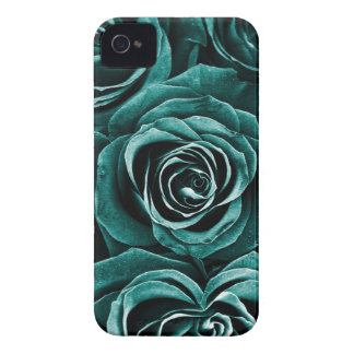 Rose Bouquet in Turquoise iPhone 4 Cover
