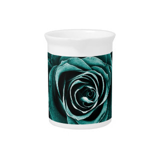 Rose Bouquet in Turquoise Pitcher