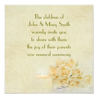 """Rose Bouquet Invite 5.25"""" Square Invitation Card"""