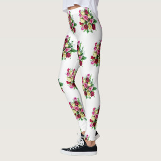 Rose Bouquet Leggings Valentine's Day Flowers