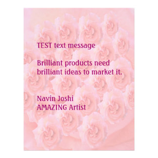 Rose Bouquet Light Shade - Customize or buy Blank 21.5 Cm X 28 Cm Flyer