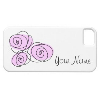 Rose Bouquet Lilac 'Name' horizontal Barely There iPhone 5 Case