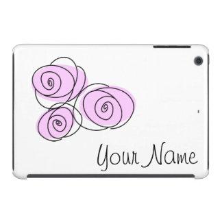 Rose Bouquet Lilac 'Name' iPad Mini horizontal iPad Mini Retina Cases