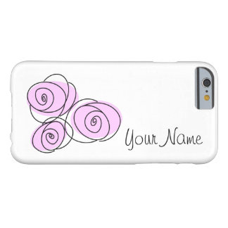 Rose Bouquet Lilac 'Name' iPhone 6 horizontal Barely There iPhone 6 Case