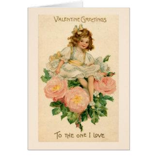 Rose Bouquet Valentine Greeting Card