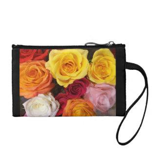 Rose bouquet wristlet purse