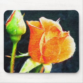 Rose Bud Mouse Pad