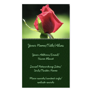 Rose Bud Pack Of Standard Business Cards