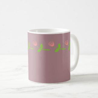 Rose Bud Pattern Coffee Mug