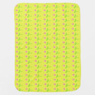 Rose Bud Pattern Swaddle Blankets