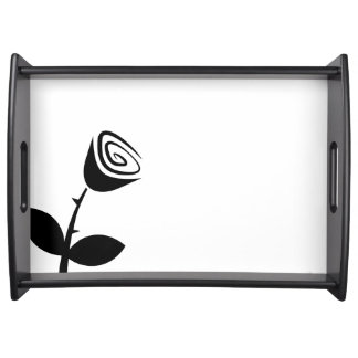 Rose Bud Serving Tray