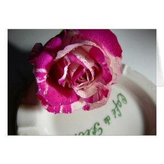 rose cafe de flore menthe greeting card
