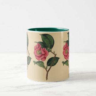 Rose Camellia Two-Tone Coffee Mug