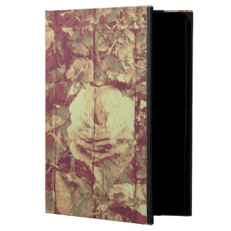 Rose camouflage pattern on tiled wall background cover for iPad air