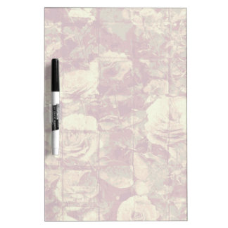 Rose camouflage pattern on tiled wall background dry erase board
