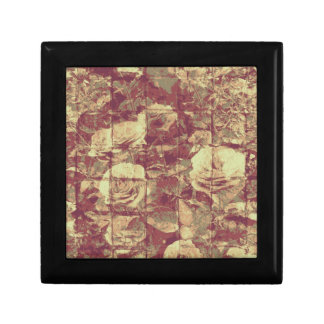 Rose camouflage pattern on tiled wall background gift box