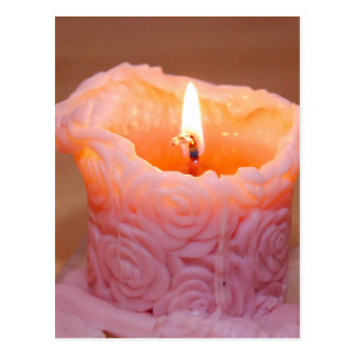 Rose Candle Postcard