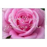 Rose Cards Pink Flowers Custom Greeting Card