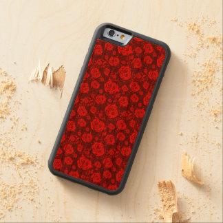 rose carved cherry iPhone 6 bumper case