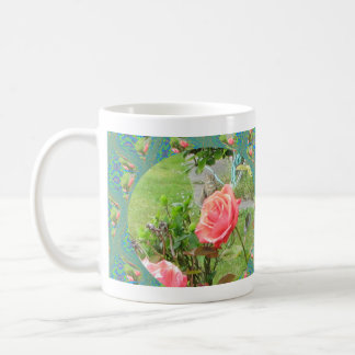 Rose Cat Eureka CA Coffee Cup Basic White Mug