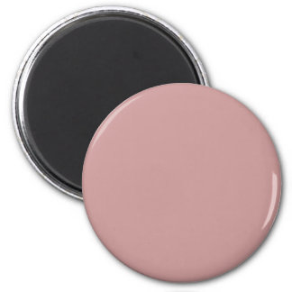 Rose #CC9999 Solid Color 6 Cm Round Magnet