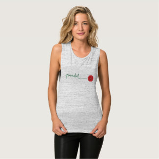 rose chakras workout tank top __ grounded