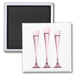 Rose Champagne Flutes Magnet