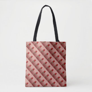 Rose Checked Pattern Tote Bag