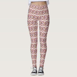 Rose Chevron Patterned Leggings