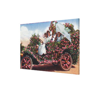 Rose City Festival Decorated Auto with Ladies Gallery Wrapped Canvas