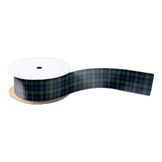 Rose Clan Hunting Tartan Satin Ribbon