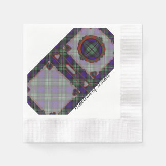 Rose clan Plaid Scottish tartan Disposable Serviette