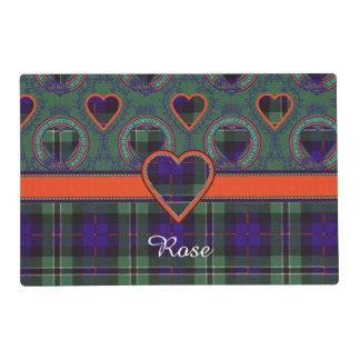 Rose clan Plaid Scottish tartan Laminated Place Mat