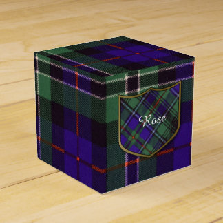 Rose clan Plaid Scottish tartan Wedding Favour Box