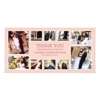 ROSE COLLAGE | WEDDING THANK YOU CARD PHOTO CARD